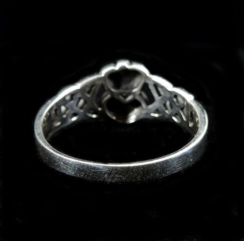 Handcrafted Solid 925 Sterling Argent Irlandais Claddagh Ring Avec Celtique Noeuds