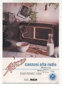 Spartito Stadio Canzoni Alla Radio Sanremo 1986 Songbook Sheet Music Ebay