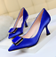 Details about  /Ladies Metal Buckle Pumps Kitten Heel Shoes Office Work Pointed Profession jf00