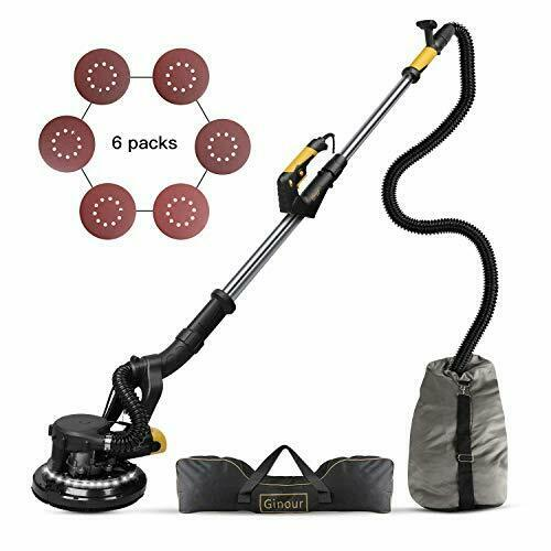 Ginour 360° 750W Drywall Sander With Vacuum Attachment Variable Speed /& LED L...