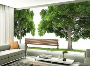 3D Green Tree Lawn Leaves 7 Wallpaper Mural Paper Wall Print Wallpaper Murals UK