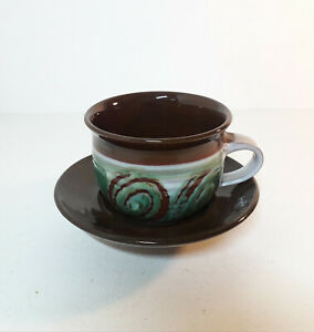 Vintage-Skegness-Pottery-Cup-and-Saucer-Excellent-Condition