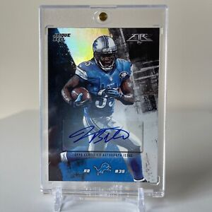 2015 Topps Fire Silver Foil Parallel 54/130 Joique Bell #80 Autograph Card