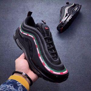 4e380181869c Nike Air Max 97 black Running Shoes aj1986-001 US Size 9-11