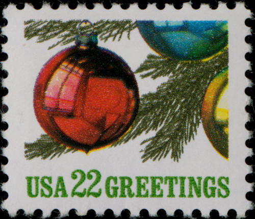 1987 22c Christmas Tree Ornaments Scott 2368 Mint F/VF