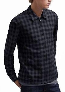 French para Camiseta cremallera Connection de algodón manga y cierre con larga hombre de qqPrga