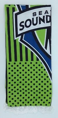 Fan Apparel & Souvenirs Gentle Mls Seattle Sounders Fc Adidas Women's Silky Feel Lace Trim Scarf Style #s372w