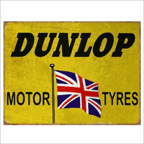 Dunlop Metal Signs Retro Pub Bar Vintage  Beer Garage Shed Sign Wall Poster