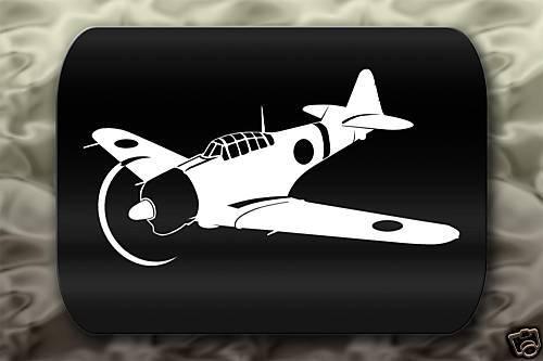 Japanese A6M Zero Airplane Decal Sticker Kamikaze