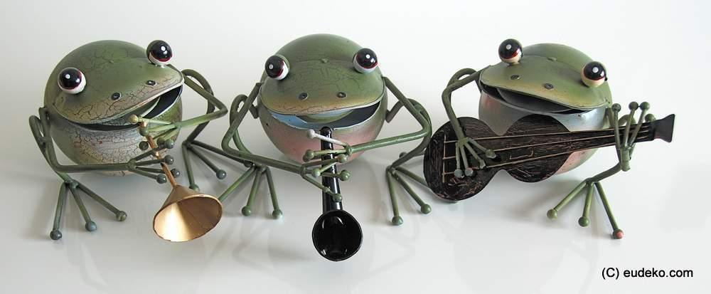 Frosch grün Set 3 teilig Dekoration Skulptur Figur Deko Geschenkidee    NEU
