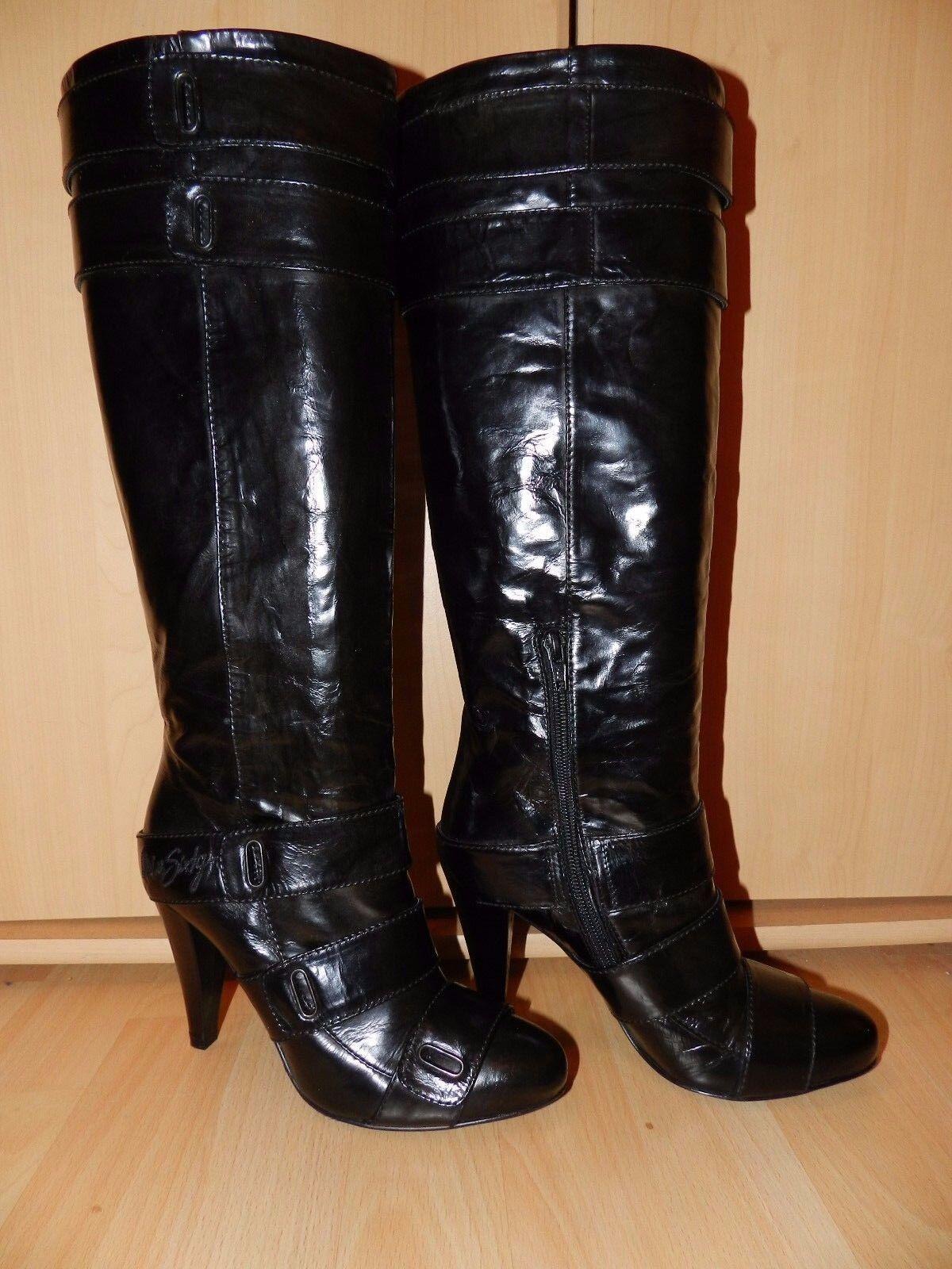 Sexy Miss Sixty High Heel Echt Lackleder Stiefel,Gr. 38, Absatz 10 cm Neuwertig