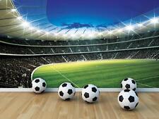 Gigante Papel Pintado 368x254cm estadio de fútbol Mural de Pared para Cuarto de Niños Verde