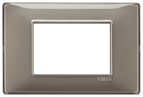 VIMAR PLANA 14653.40 - Placca 3M Reflex cenere