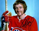 Signed 8x10 LARRY ROBINSON Montreal Canadiens Photo - COA