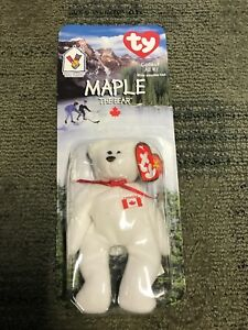 MCDONALDS TY TEENIE BEANIE BABY GLORY THE BEAR NIB NEW 1996