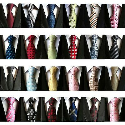 Fashion Men/'s Classic Tie 100/% Silk Necktie Geometric Woven Jacquard Neck Ties