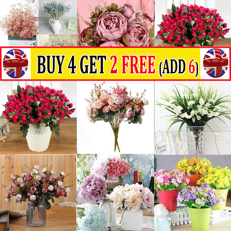 Home Decoration - 21Heads Silk Rose Artificial Flowers Bouquet Bunch Wedding Home Party Decor #AT