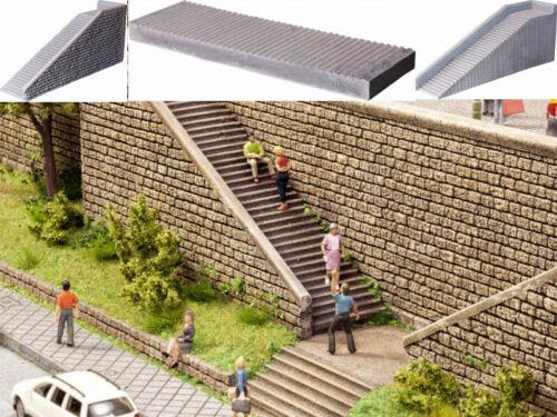 Encore 58303 escaliers Set freitreppe mur Escalier collées h0 NEUF
