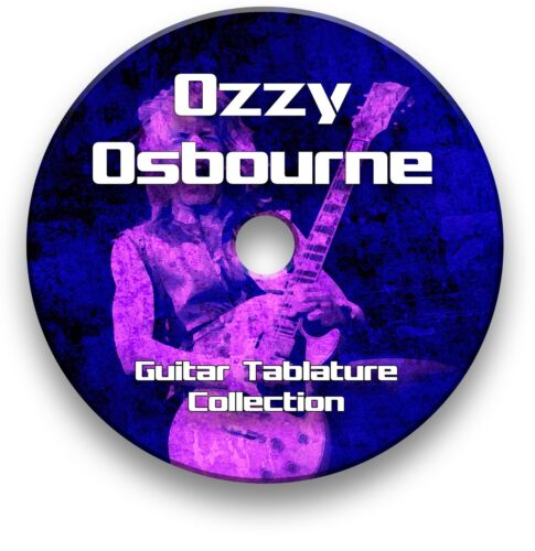 OZZY OSBOURNE ROCK GUITAR TAB TABLATURE SONG BOOK ANTHOLOGY SOFTWARE CD