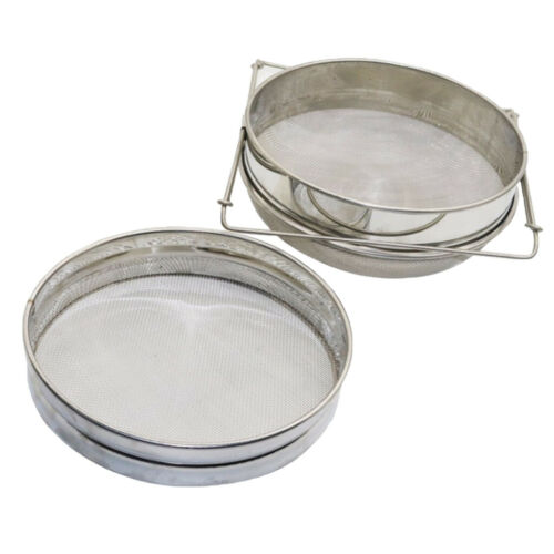 Beekeeping Equip Tool Honey Strainer Double Sieve Filter Stainless Steel