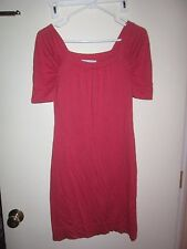 BANANA REPUBLIC pink sweater stretch square neck silk cotton wool Dress S