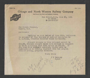 1921-CHICAGO-and-NORTH-WESTERN-RAILWAY-COMPANY-RAILROAD-LETTERHEAD
