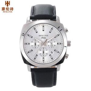 HOLUNS-Luxury-Men-Military-Quartz-Watch-Leather-Band-50m-Waterproof-Luminous