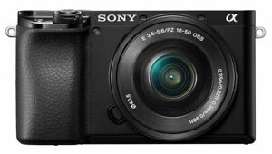 Sony Alpha A6100 24.2 Mp Mirrorless Camera   Black (With 16 50mm Lens Kit) by Sony