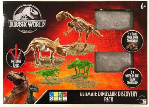 Years Jurassic World Ultimate Dinosaur Discovery Pack Stem Boys Toy Xmas Gift 6