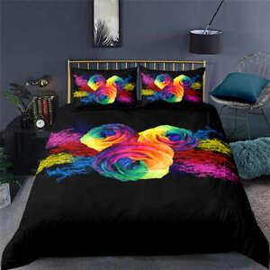 Wonderful-Handmade-Flowers-3D-Quilt-Duvet-Doona-Cover-Set-Pillow-case-Print