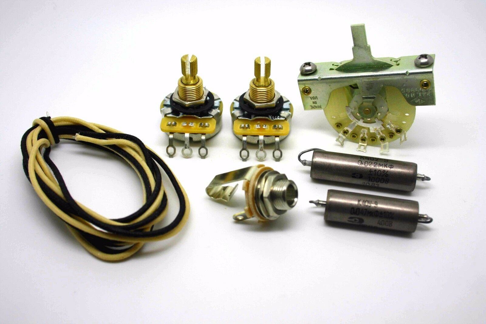 FENDER TELECASTER SUPER WIRING KIT WITH 0.047uf & 0.022uF K40Y-9 PIO