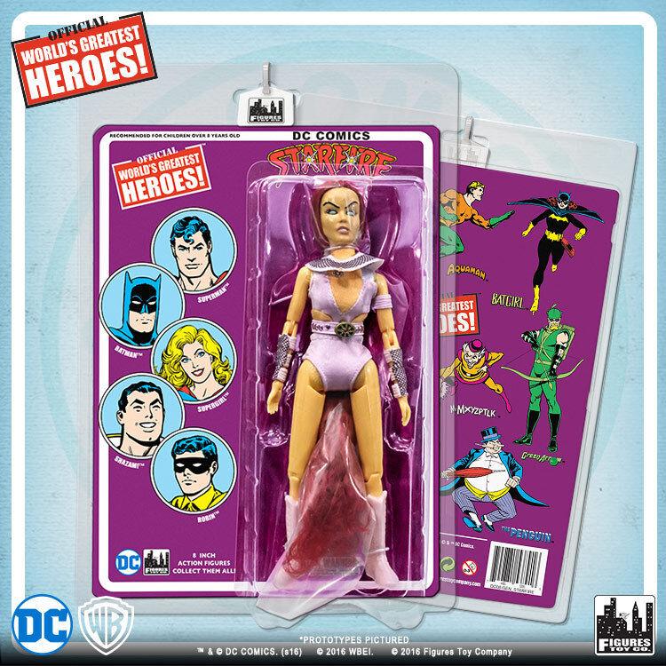 Official DC Comics Comics Comics Starfire 8 inch Action Figure on Retro Card 78d8d0