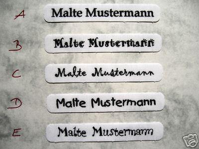 50  Namensschilder  Wäscheschilder Wäscheediketten Namensetiketten Für Kleidung