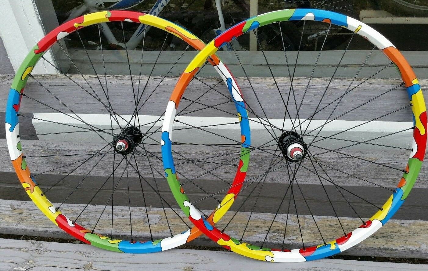 26  Ryde BigBull BMX Wheels Sealed Flip Flop w  Puzzle Design - Pair