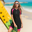 Details about  /Women Short Sleeve Diving Suit Surf Free dive Snorkeling Swimming Short Wetsuits