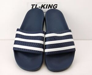 16498f8bb Image is loading Adidas-Originals-Adilette-Slides-Sandals-Navy-Blue-White-