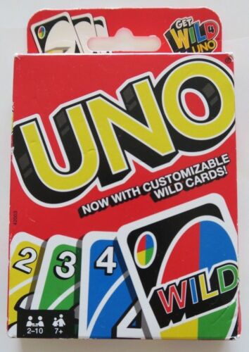 BRAND NEW UNO Card game with customizable wild cards