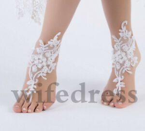 Wedding Foot Chain White Barefoot Sandals Beach Anklet Jewelry