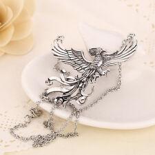 Phoenix Necklace Vintage Antique Silver Pendant Fashion Jewelry For Men Women
