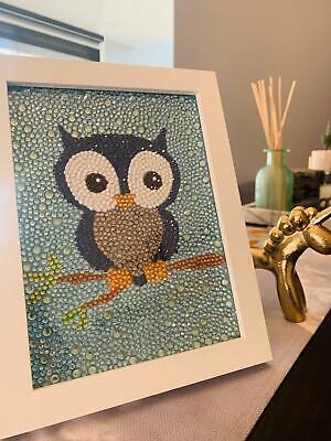 5D Diamond Painting Kit,Owl Full Drill Diamond Picture,DIY Room Wall Deco,DIY Diamond Mosaic,Rhinestone Mosaic,Rhinestone Puzzle,Diy Picture