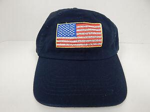 Image is loading Lids-Navy-American-Flag-Adjustable-Back-100-Cotton- bdf54ad77e5