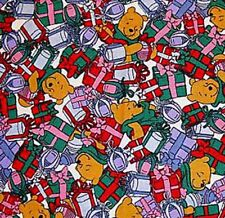 Disney's Winnie The Pooh Christmas Pre Quilted Cotton Fabric - Half Metre