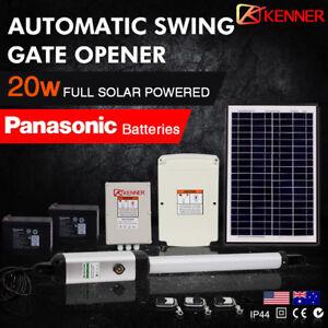 KENNER-Full-Solar-Powered-Automatic-Motor-Remote-Swing-Gate-Opener-100E