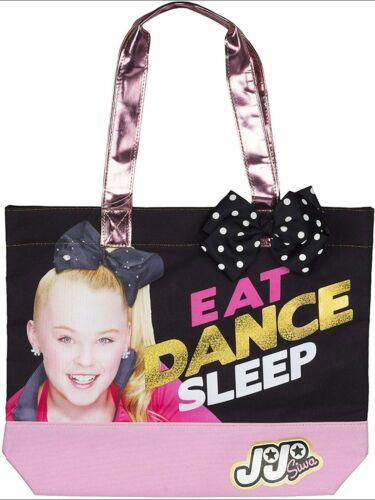 Sleep Tote Bag w// Polka Dot Bow Beach Book ipad Purse Dance Cute JoJo Siwa Eat