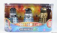 Doctor Who Dalek Set Supreme Emperor's Guard Saucer Pilot Figure Toy Dr -