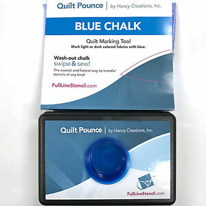 Quilt Pounce Pad With Wash Out Blue Chalk Powder 2 Oz Bag
