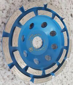 3-x-Diamante-Righe-Disco-Abrasivo-Disco-di-Levigatura-125-mm-neu-Cemento