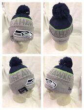 NFL Seattle Seahawks 2015 On Field Player Coach Sideline Sport Knit Hat Pom
