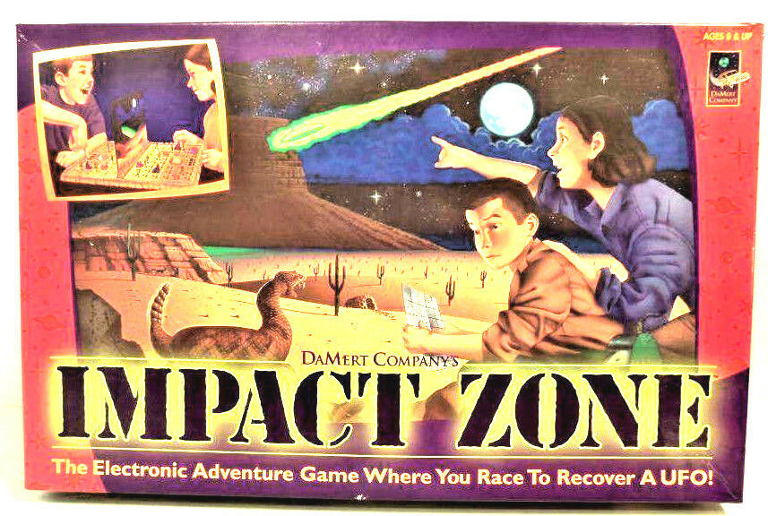 1998 DaMert IMPACT ZONE Alien GAME Electronic Adventure BOARD GAME Alien 100% Complete EUC 6df1ef