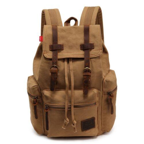 Zaino borsa in tela canvas stile vintage rucksack vano porta pc  vari colori